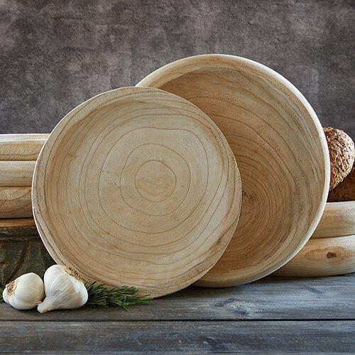 D3683 - Paulownia Wood Bowl- Natural - Medium by CBGifts