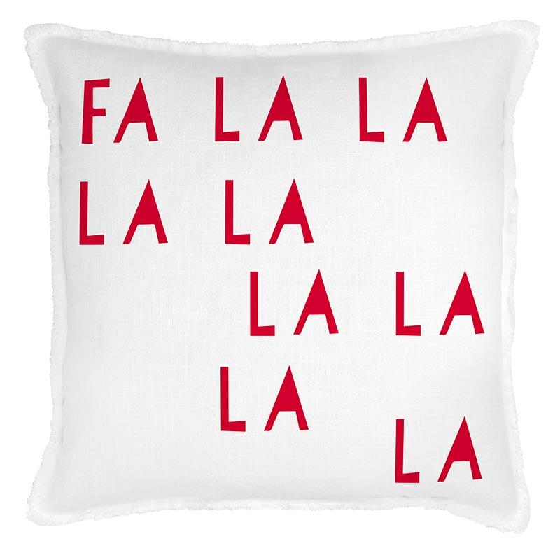 G5805 - Face to Face Euro Pillow- Fa La La La by CBGifts