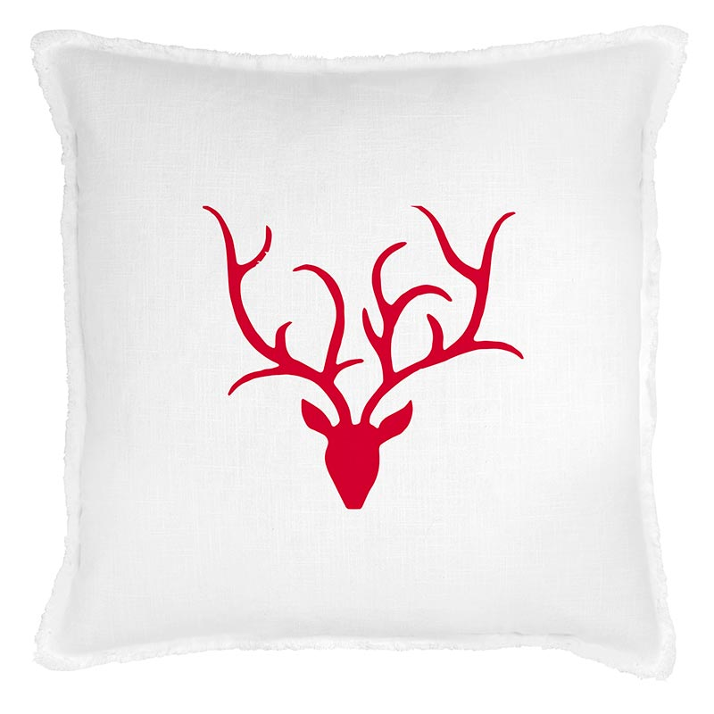 G5806 - Face to Face Euro Pillow- Antlers by CBGifts
