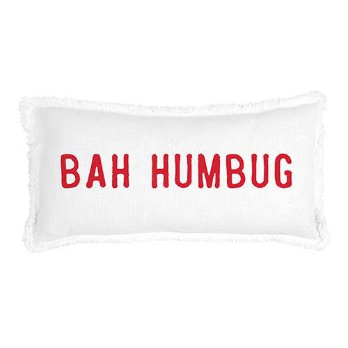 G5808 - Face to Face Lumbar Pillow - Bah Humbug by CBGifts