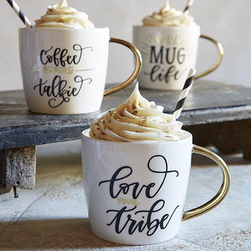 Gold Handle Mugs